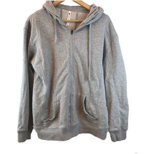 FABLETICS Light Grey Zip Up Hoodie XL